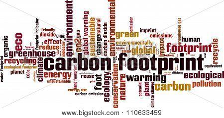 Carbon Footprint Word Cloud