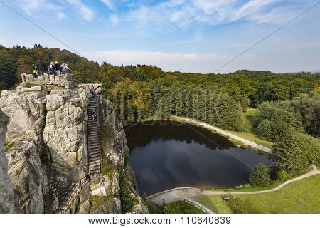 Externsteine View In Autumn, Germany, Editorial