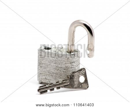 Isolated Silver Lock