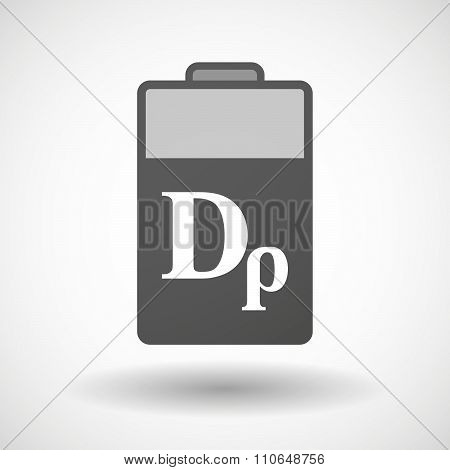 Isolated Battery Icon With A Drachma Currency Sign