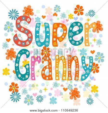 Super granny. Vector