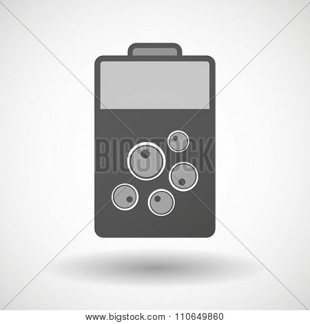 Isolated Battery Icon With Oocytes