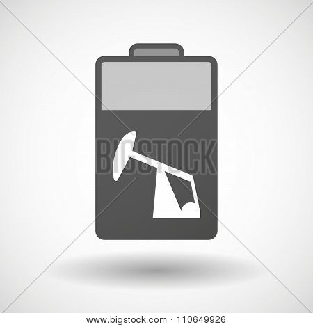 Isolated Battery Icon With A Horsehead Pump