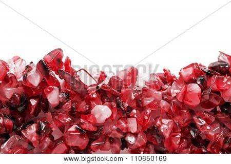 Red Gems Isolated