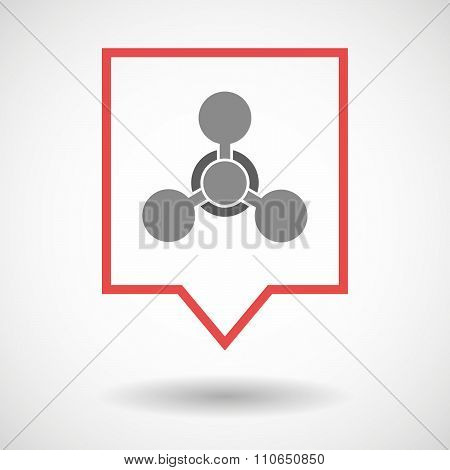 Isolated Tooltip Line Art Icon With A Chemical Weapon Sign