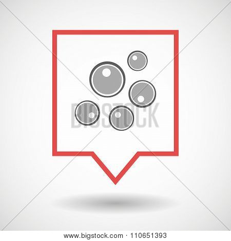 Isolated Tooltip Line Art Icon With Oocytes