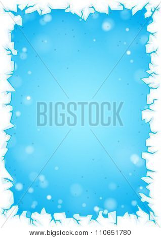 Abstract blue background with lights and frozen frame borders