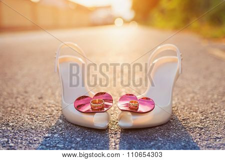 Bridal Shoes And Wedding Rings