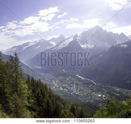 view if Mont Blanc
