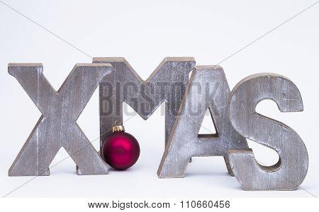 X-mas With Red Christmas Ball.