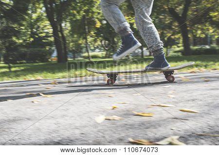 Boy With Skateboard