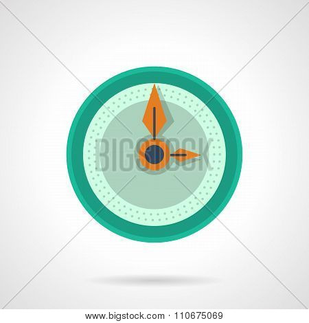 Flat color clock dial vector icon