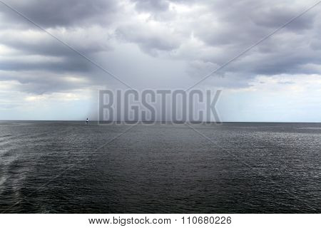Severe Tropical Rain Over Sea
