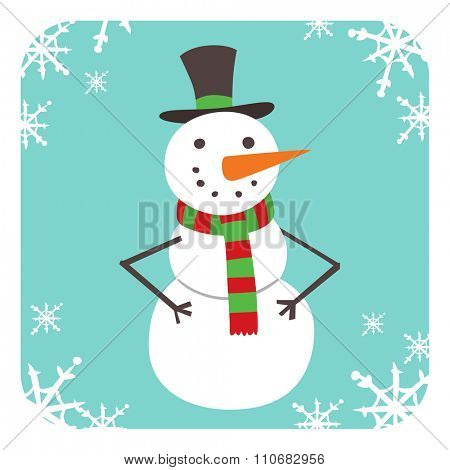 Snowman vector icon flat helper. Snowman icon face smile isolated. Snowman icon flat style. Snowman vector design. Snowman icon isolated. Snowman Santa Christmas helper Snowman icon