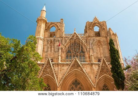 St. Nicholas' Cathedral (Lala Mustafa Mosque). Famagusta Cyprus.