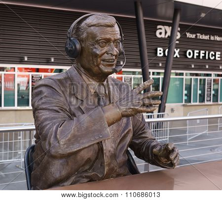 Chick Hearn Statue As Staples Center