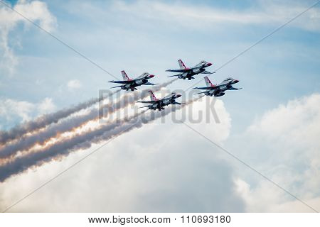 Thunderbirds Diamond Formation Above The Clouds