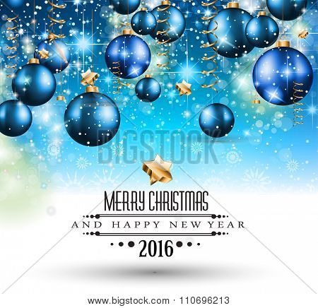Merry Christmas Seasonal Background for your greeting cards, New Years Flyer, Chrstmas dinner invitation, posters and do on.