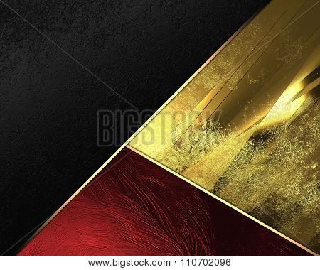 Red Yellow And Black Background. Element For Design. Template For Design. Copy Space For Ad Brochure