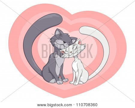Two enamored cats 4