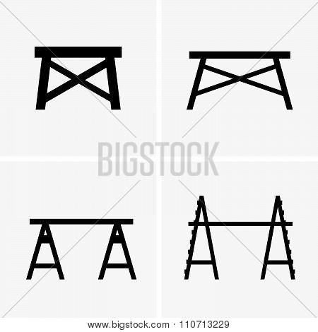 Construction trestles