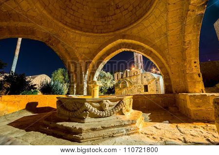 Venetian Fountain At Ayia Napa, Medieval Monastery. Famagusta District, Cyprus