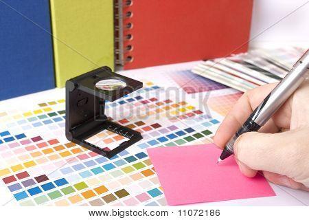 Graphic Designer Desk