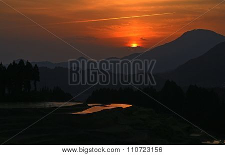 sunset at the terraces
