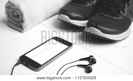 Fitness Equipment Black And White Color Style