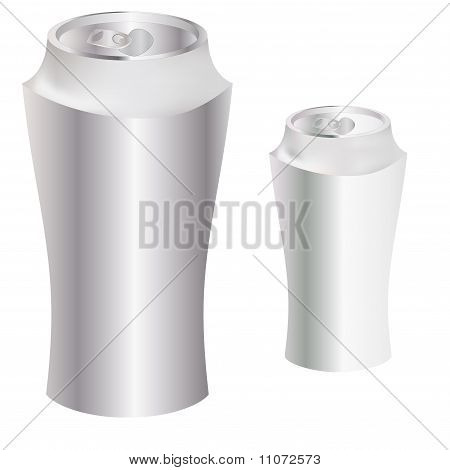 Blank Metal Can. Vector Illustration