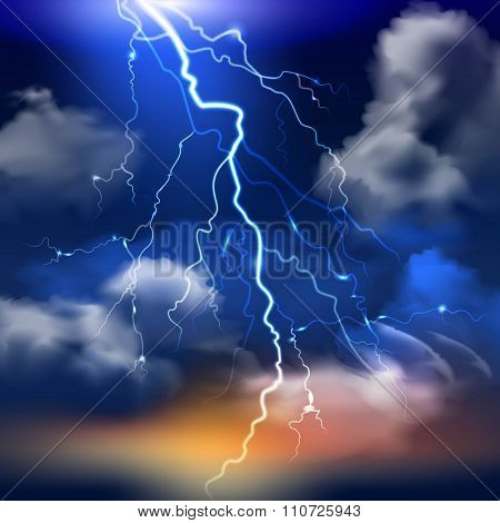 Lightning Background Illustration