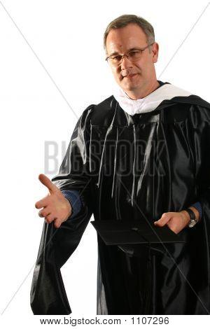 Professor Offering A Hand