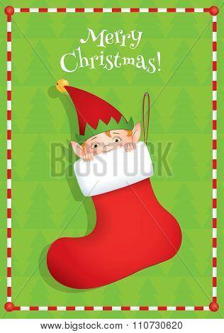 Elf Hiding In A Boot