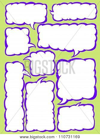 Vector set of squared text balloons.