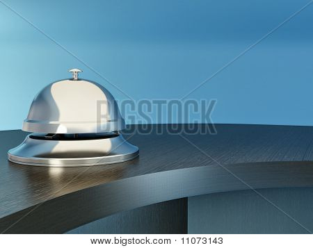 Hotel Bell On The Table. Reception