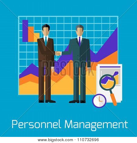 Personnel Management People Handshake