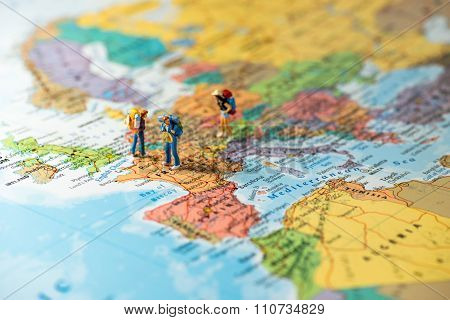 European Tourism And Travel Concept.