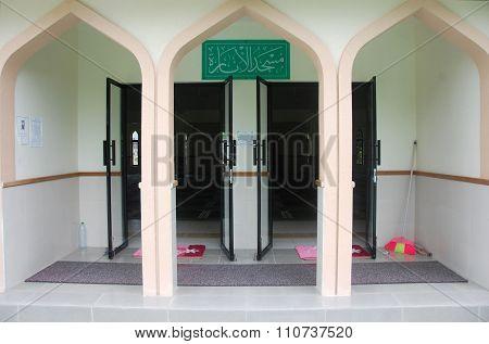 Mosque Entrance At Himmafushi Island Maldives