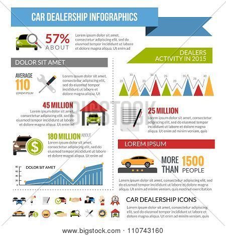 Car Dealership Infographics Layout
