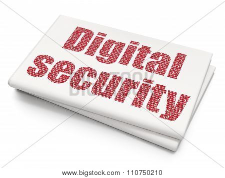 Privacy concept: Digital Security on Blank Newspaper background