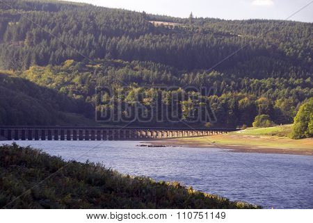 Lower Derwent Reservoir and aqueduct, UK