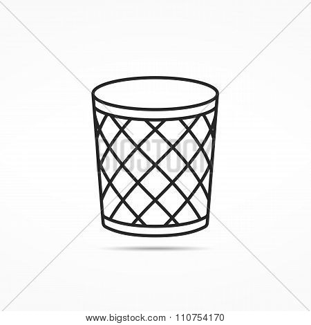 Trash Can Line Icon