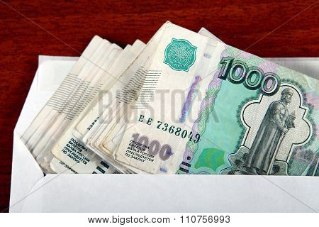 Russian Rubles In Envelope