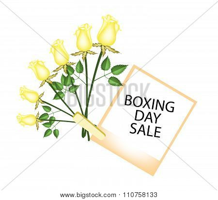 Boxing Day Of Photo Frames With Yellow Roses