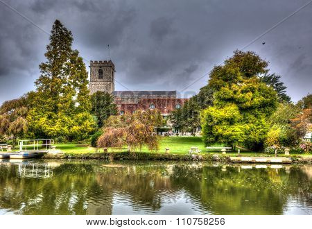 Lady St Mary church Wareham Dorset historic market town Dorset situated on the River Frome hdr