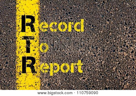 Accounting Business Acronym Rtr Record To Report