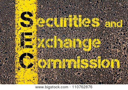 Accounting Business Acronym Sec Securities And Exchange Commission