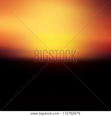 Red  Sunset Background From Africa - Horizon Of Golden Black And Infinite Splendor