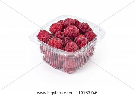 Fresh organic raspberries