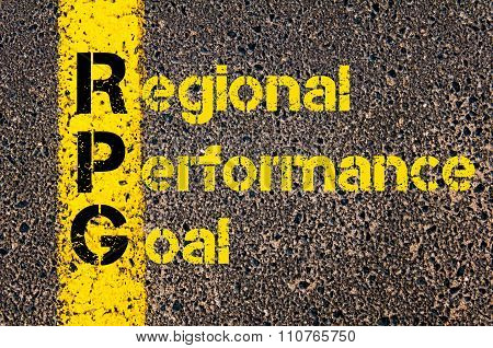 Accounting Business Acronym Rpg Regional Performance Goal